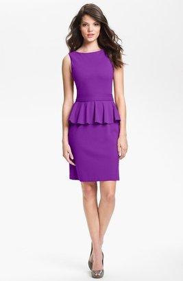 Isaac Mizrahi New York Ponte Knit Peplum Dress