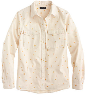J.Crew Gold star ecru shirt