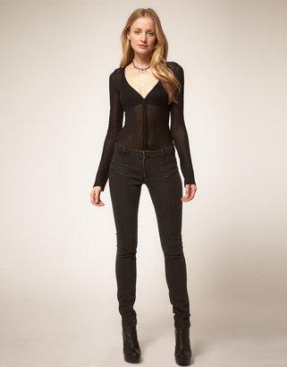 Genetic Denim Exposed Zip Jeans