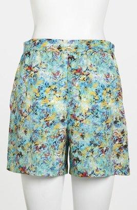 WAYF Pleated Print Shorts Blue Multi X-Small