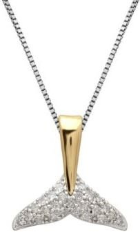 Lord & Taylor Sterling Silver, 14Kt. Yellow Gold & Diamond Necklace