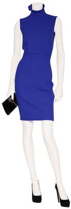Roksanda Ilincic Sapphire Blue Colorblock Wool Crepe Dress