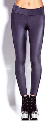 Forever 21 Shimmering Foldover Leggings