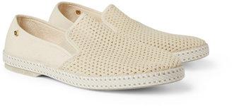 Rivieras Cotton Mesh Slip-On Shoes