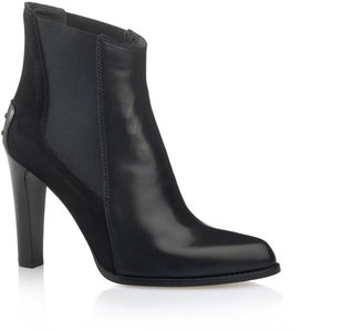 Tod's High-Heel Leather Chelsea Ankle Boots