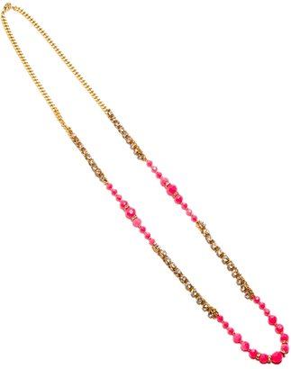 The Limited Neon & Rhinestone Chain Necklace