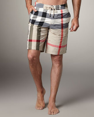 Burberry Check Boardshorts, New Classic