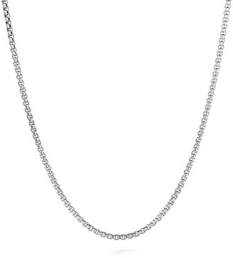 David Yurman Sterling Silver Box Link Necklace