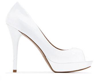 MANGO Peep-toe stiletto heel