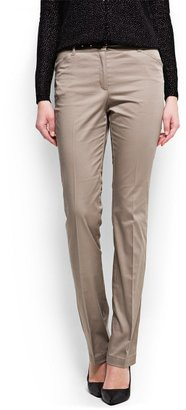 MANGO Straight-cut suit trousers