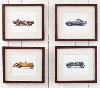 Pottery Barn Kids Vintage Roadster Framed Art Set