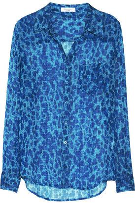 Equipment Brett leopard-print silk-chiffon shirt