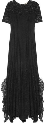 Nina Ricci Ruffled lace gown