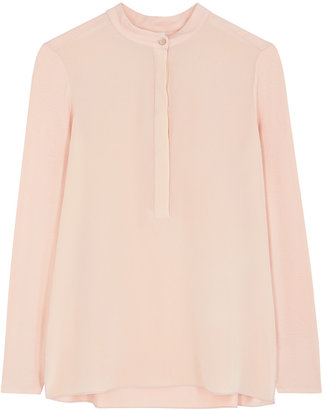 Max Mara Leisure Nilly Pink Silk And Jersey Blouse
