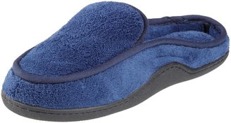Isotoner Men's Terry Slip On Clog Slipper with Memory Foam for Indoor/Outdoor Comfort Large/9.5-10.5 D(M) US