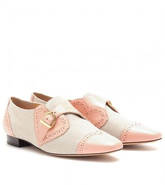 Charlotte Olympia VALENTINE LEATHER AND CANVAS BROGUES