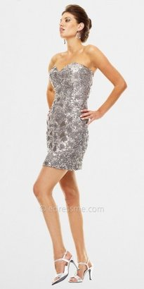 Scala Platinum Sequin Beaded Prom Dresses