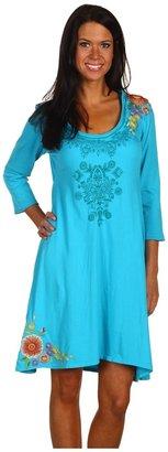 JWLA Rebecca 3/4 Sleeve Swing Dress (Hawaii Reef) - Apparel