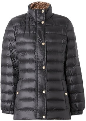 Burberry Monogram Print-lined Lightweight Puffer Jacket