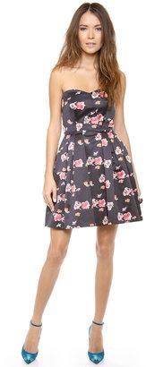 Jill Stuart Jill Floral Strapless Dress