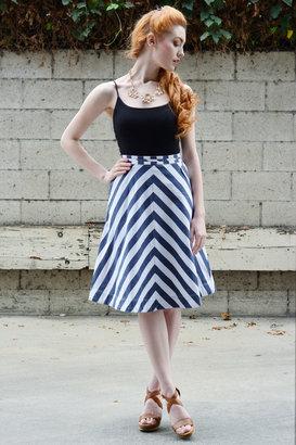 Town House Shops Georgina Stripes Skirt