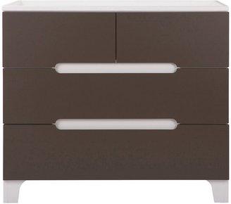 Bloom Alma Dresser - White Frame w/ Frost Grey Drawers