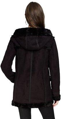 Juicy Couture Faux Shearling Duffle Coat