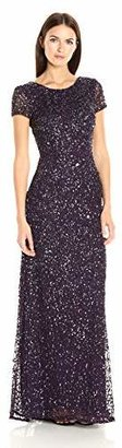 Adrianna Papell Women's Short-Sleeve All Over Sequin Gown $252.66 thestylecure.com