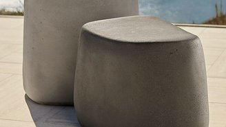 Crate & Barrel Tall Stone Stool