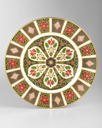Royal Crown Derby Holiday Imari Fluted Dinner Plate