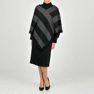 Lanco Apparel Lennie for Nina Leonard Women's Charcoal/ Black Sweater Dress $56.99 thestylecure.com