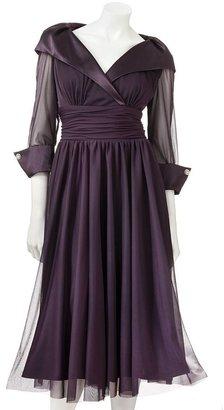 Jessica Howard mixed-media empire dress