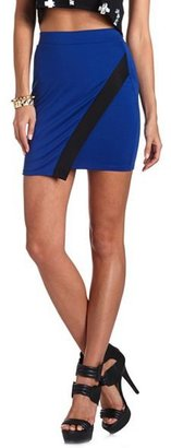 Charlotte Russe Color Block Origami Skirt