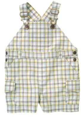 Crazy 8 Plaid Overall