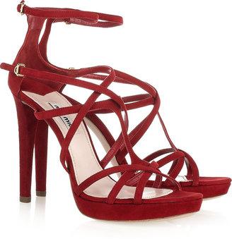 Miu Miu Multi-strap suede sandals