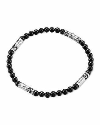 John Hardy Men's Batu Dayak Silver Bead Bracelet in Onyx