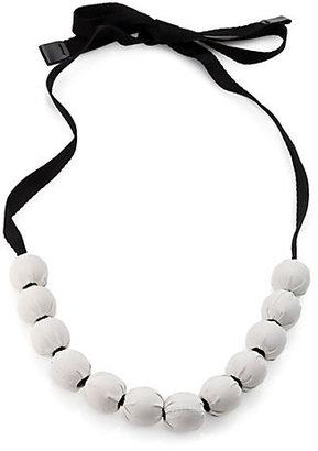 Max Mara Fabric Bead Necklace