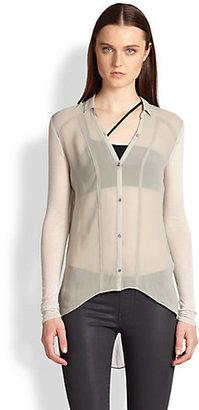 Helmut Lang Silk Ghost Shirt