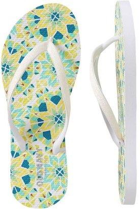 Old Navy Women's Printed Glitter-Strap Flip-Flops