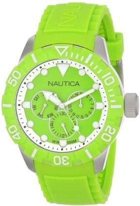Nautica Unisex N13640G NSR 101 Multi- South Beach Classic Analog with Enamel Bezel Watch $135 thestylecure.com