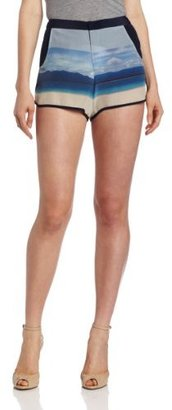 Charlotte Ronson Women's Ocean Stripe Athletic Short