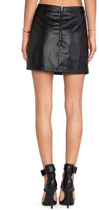 BLQ BASIQ Faux Leather Mini Skirt