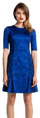 Cynthia Steffe Half-Sleeve Printed Dress