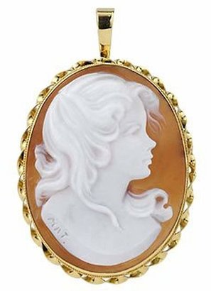 Del Gatto Young Girl Sardonyx Cameo Pendant / Pin