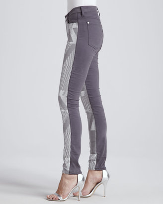 7 For All Mankind Malhia Kent The Skinny Jeans, Silver