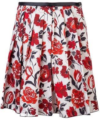 Jil Sander Navy Floral Skirt