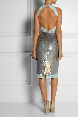Matthew Williamson Sequined organza dress