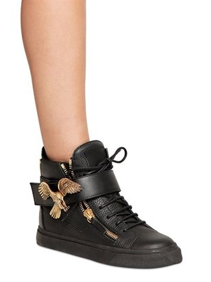 Giuseppe Zanotti 20mm Leather Gold Eagle Sneakers