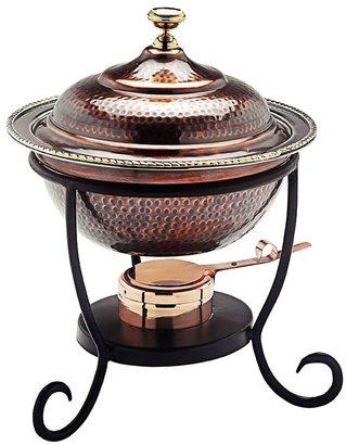 Old Dutch 3-qt. Round Antiqued Copper Chafing Dish