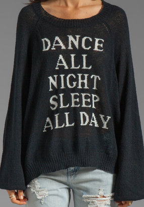 Wildfox Couture White Label Dance All Night Pfeiffer Knit